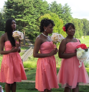 african american bridesmaids
