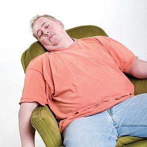 sleeping man in chair