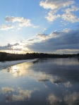 sun set river